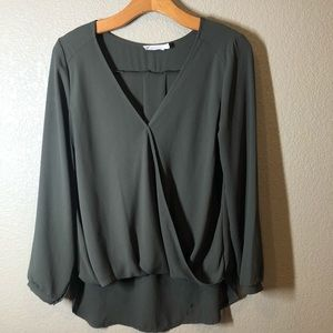 Lush olive green blouse size small